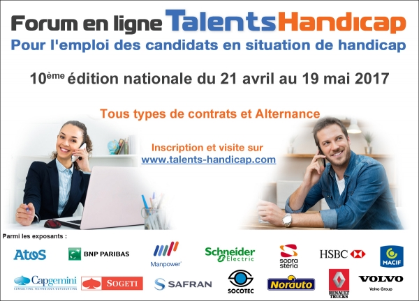 Forum en ligne de recrutement de candidats en situation de handicap