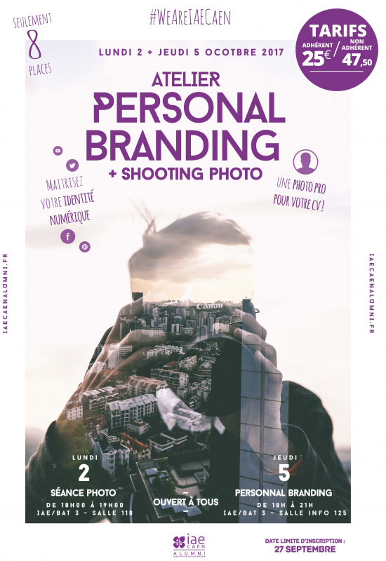 "Atelier ""Personal Branding & shooting professionnel"""