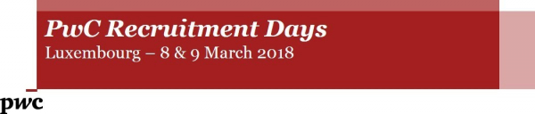 PWC RECRUITMENT DAYS Luxembourg