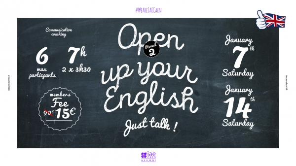 "2ème atelier ""Open up your english"""